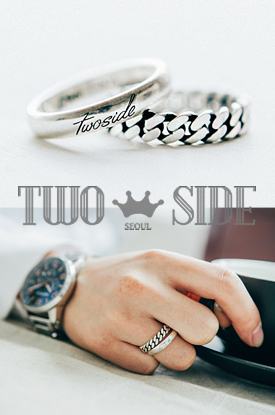 [TWOSIDE]Chain Silver Ring