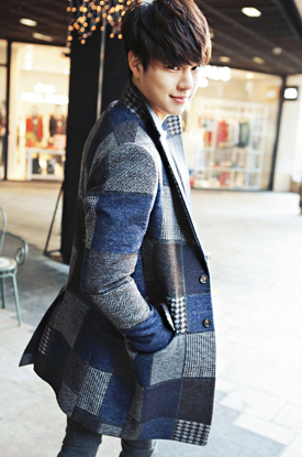 Patchwork wool coat