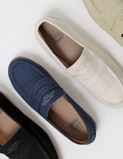 [Les Vieux] Lake canvas loafers